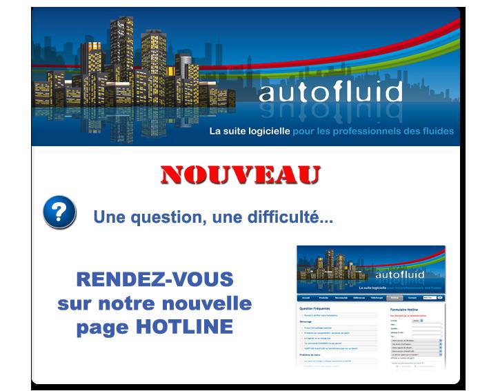 Tracéocad nouvelle page hotline assistance gratuite pour AutoFLUID 2009 logiciel chauffage plomberie ventilation climatisation