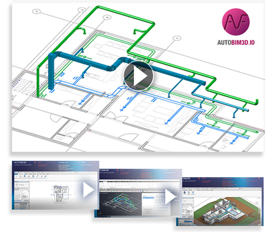 Vidéo AUTOBIM3D : création de réseaux HVAC 3D pour maquette BIM