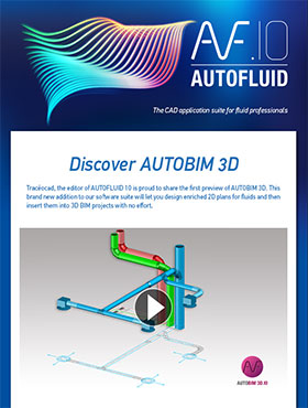 AUTOFLUID opens to BIM with AUTOBIM 3D