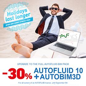 Special offer on AUTOFLUID and AUTOBIM3D MEP CAD software