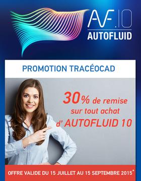 Promotion Tracéocad : -30% sur l'achat d'AUTOFLUID 10