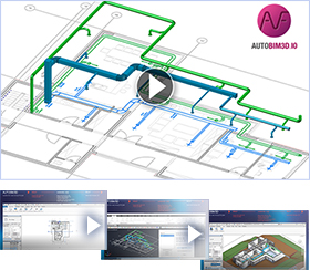 AUTOBIM3D New video: Integrating HVAC and plumbing networks into a BIM model a