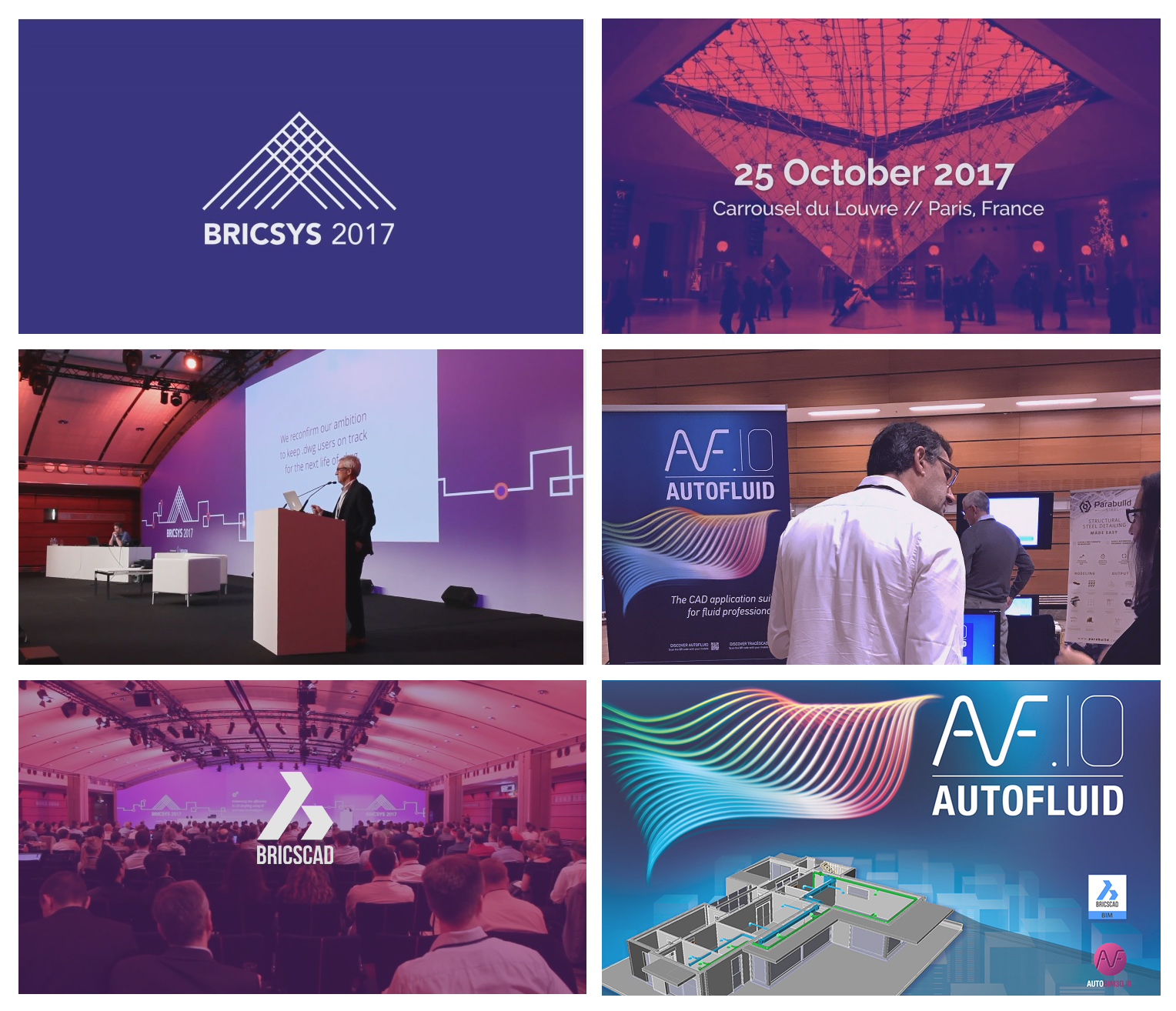 Photos of Parris 2017 Bricsys Conference with Tracéocad team