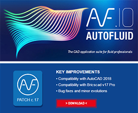 AUTOFLUID 10 Compatibility with ACAD 2018 and Bricscad V17 Pro